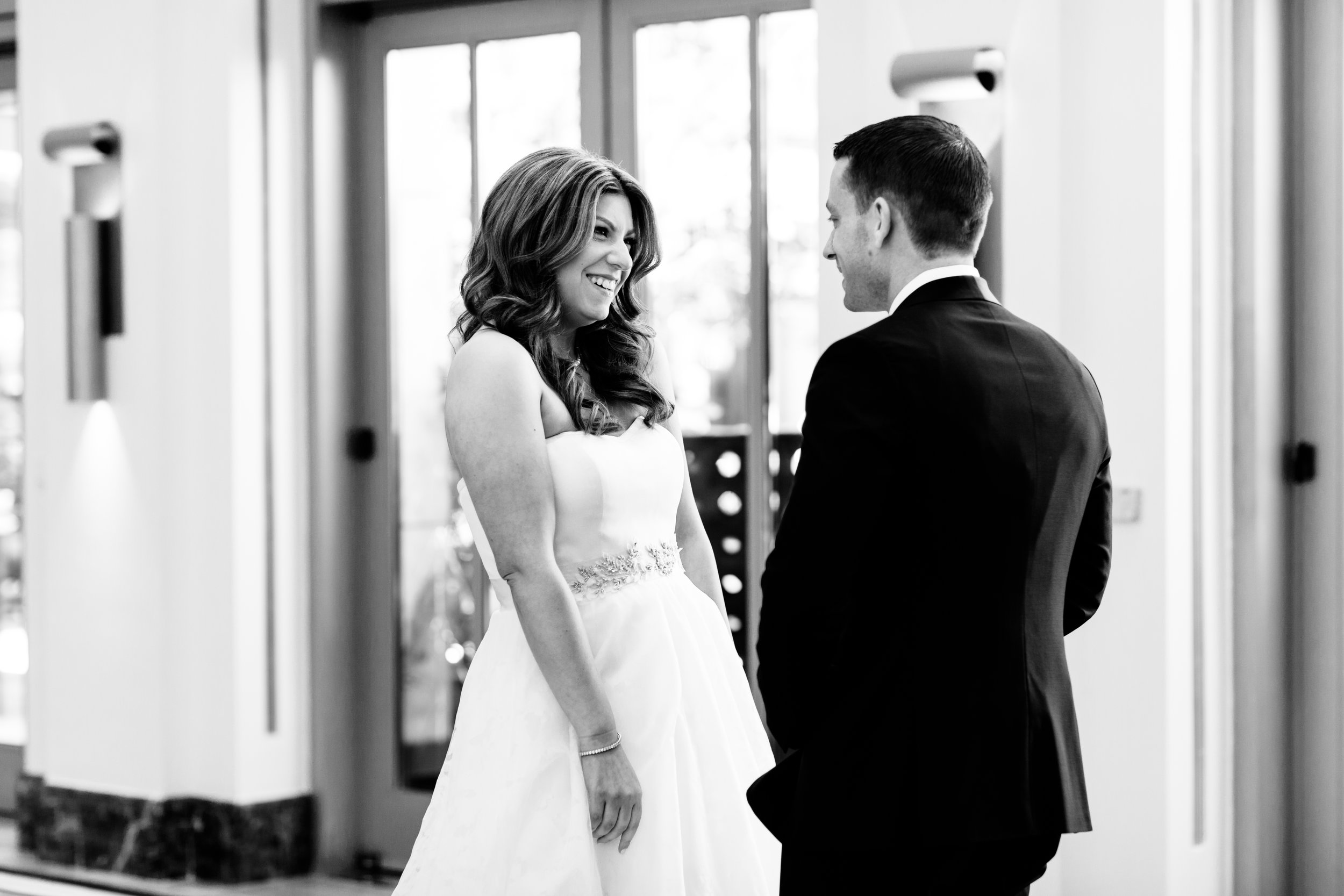 Bride and Groom First Look Chicago