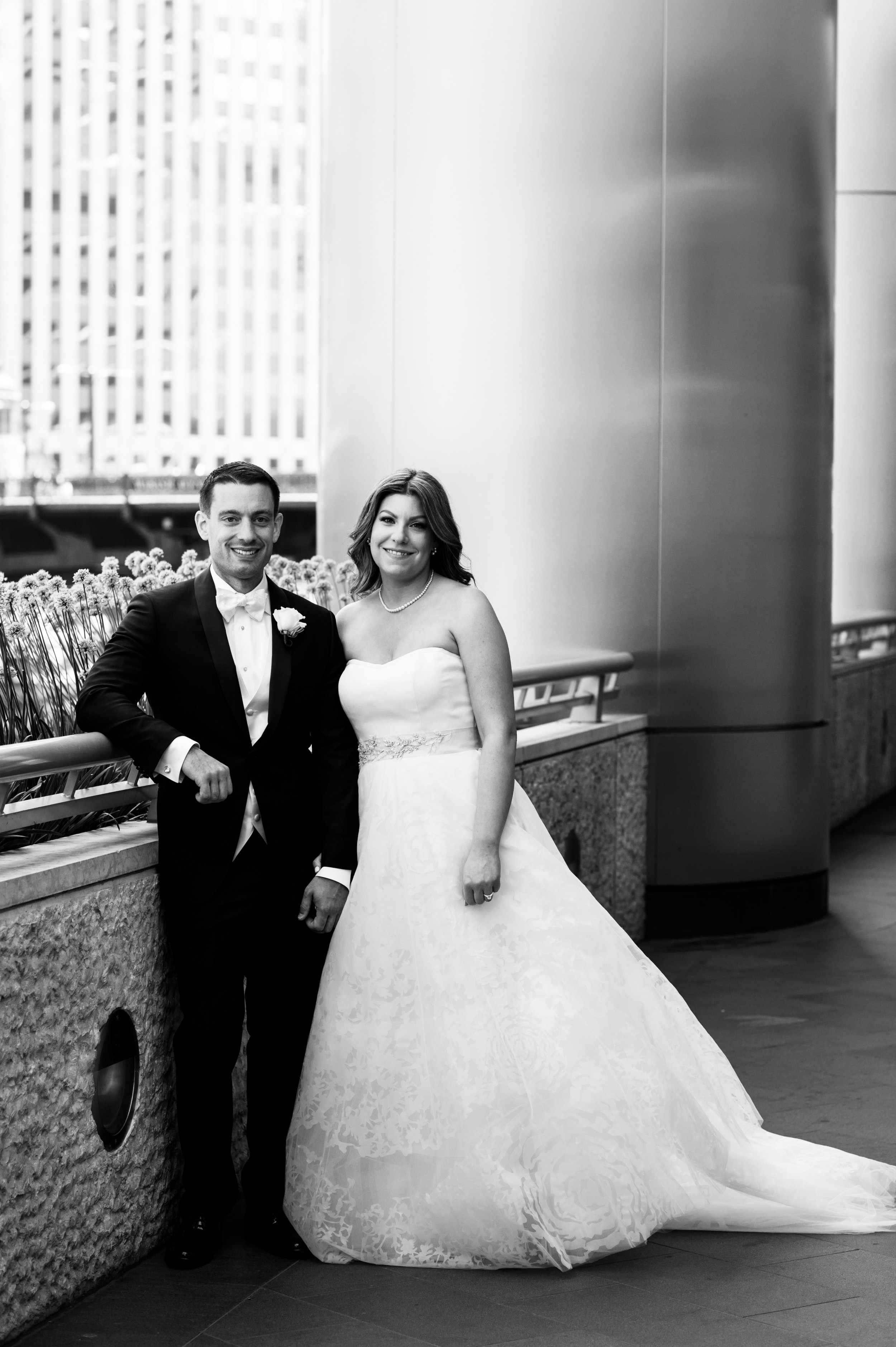 Bridal Portraits at the Trump Tower in Chicago