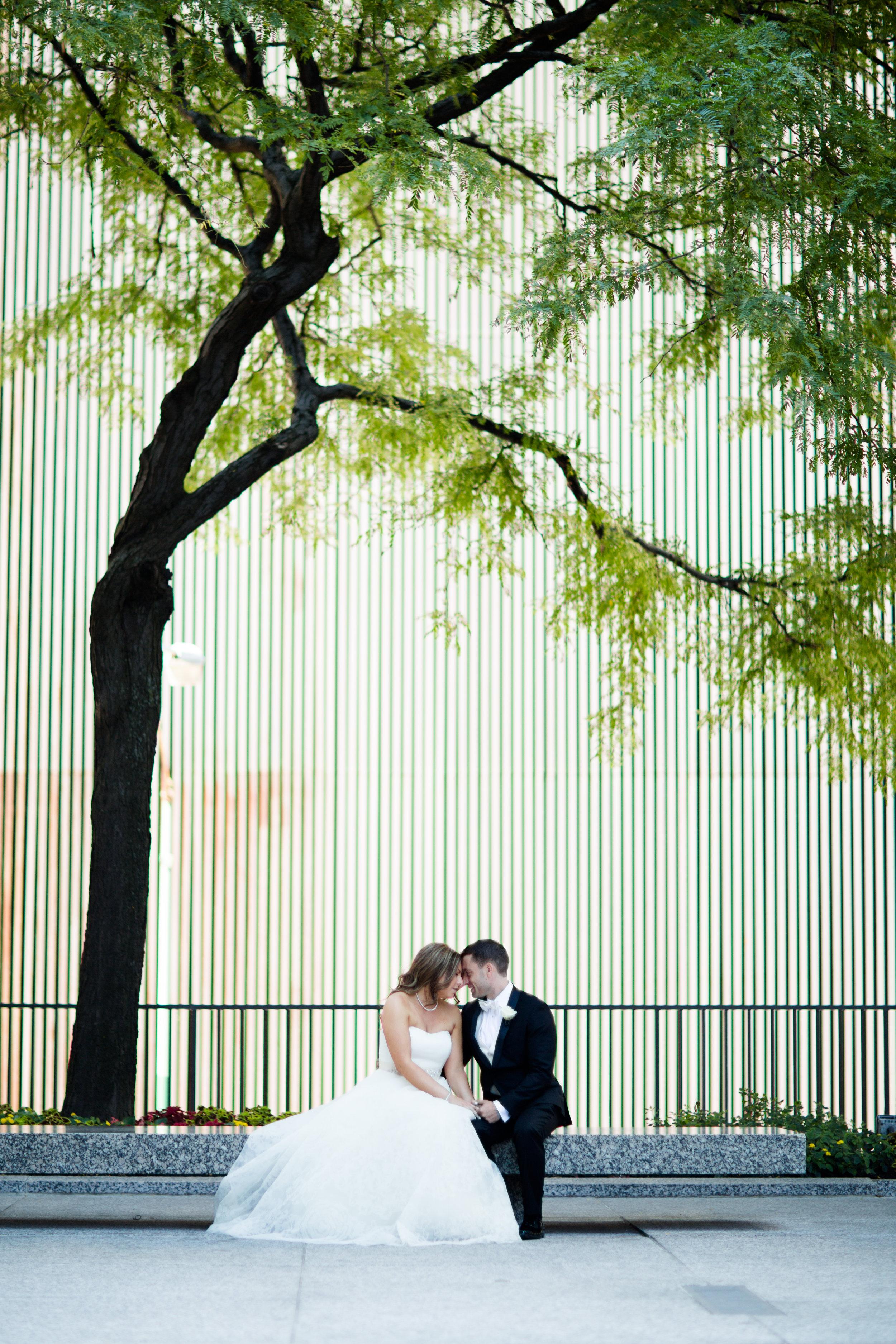 Bridal Portraits at the Langham Chicago