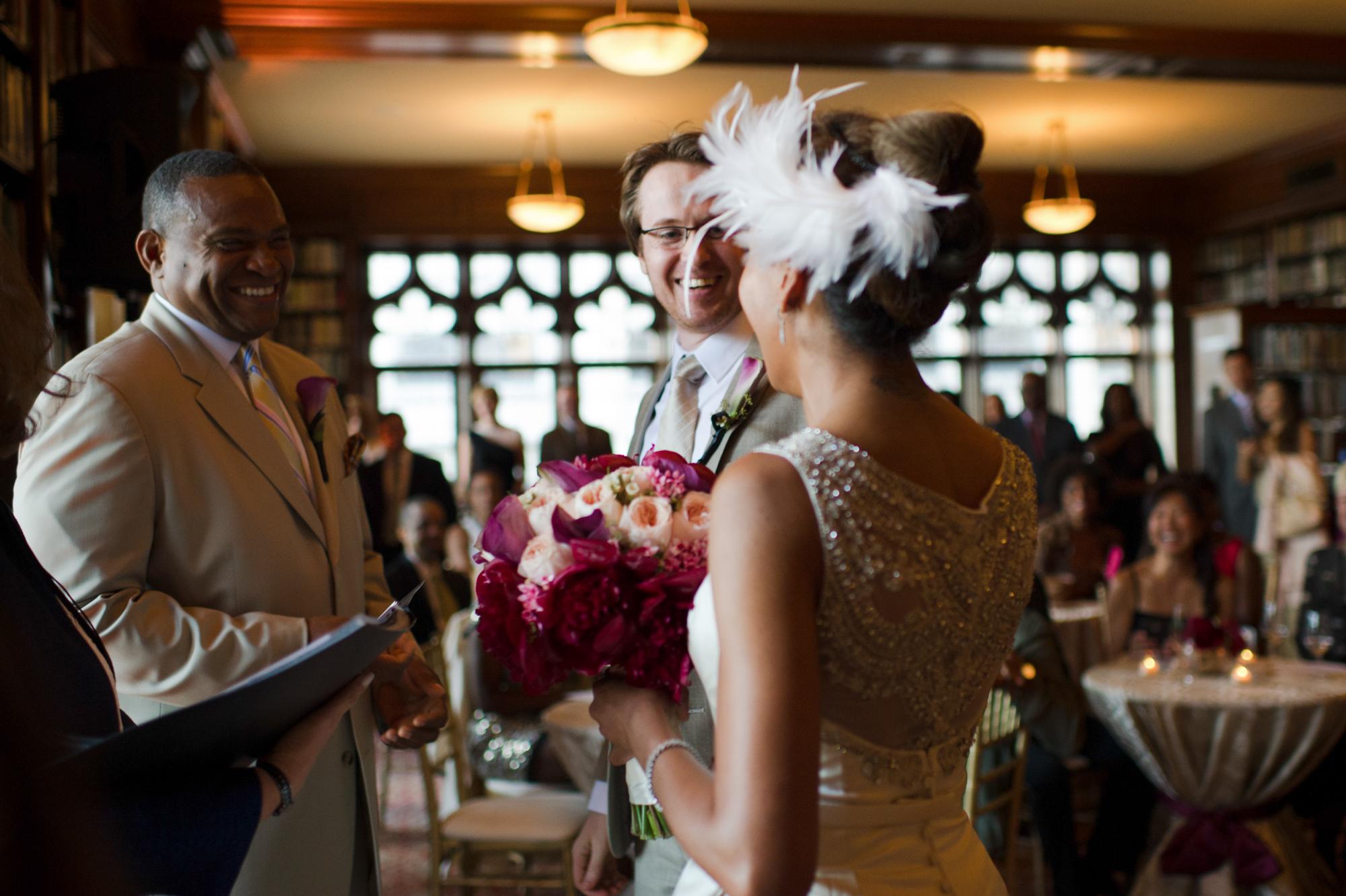 Wedding ceremony at University Club of Chicago