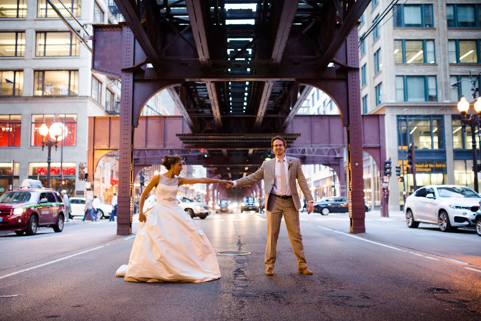 Editorial wedding photography in Chicago