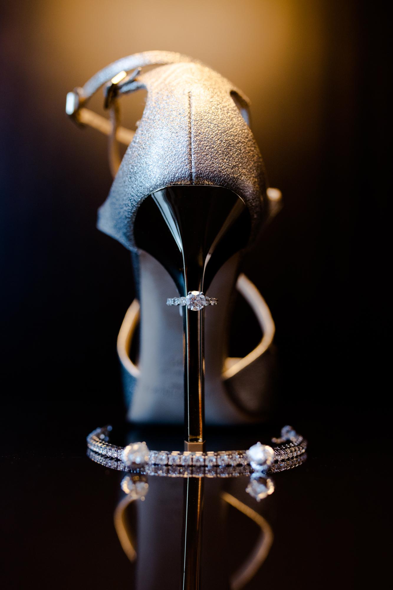 Jimmy Choo bridal shoes - Chicago wedding