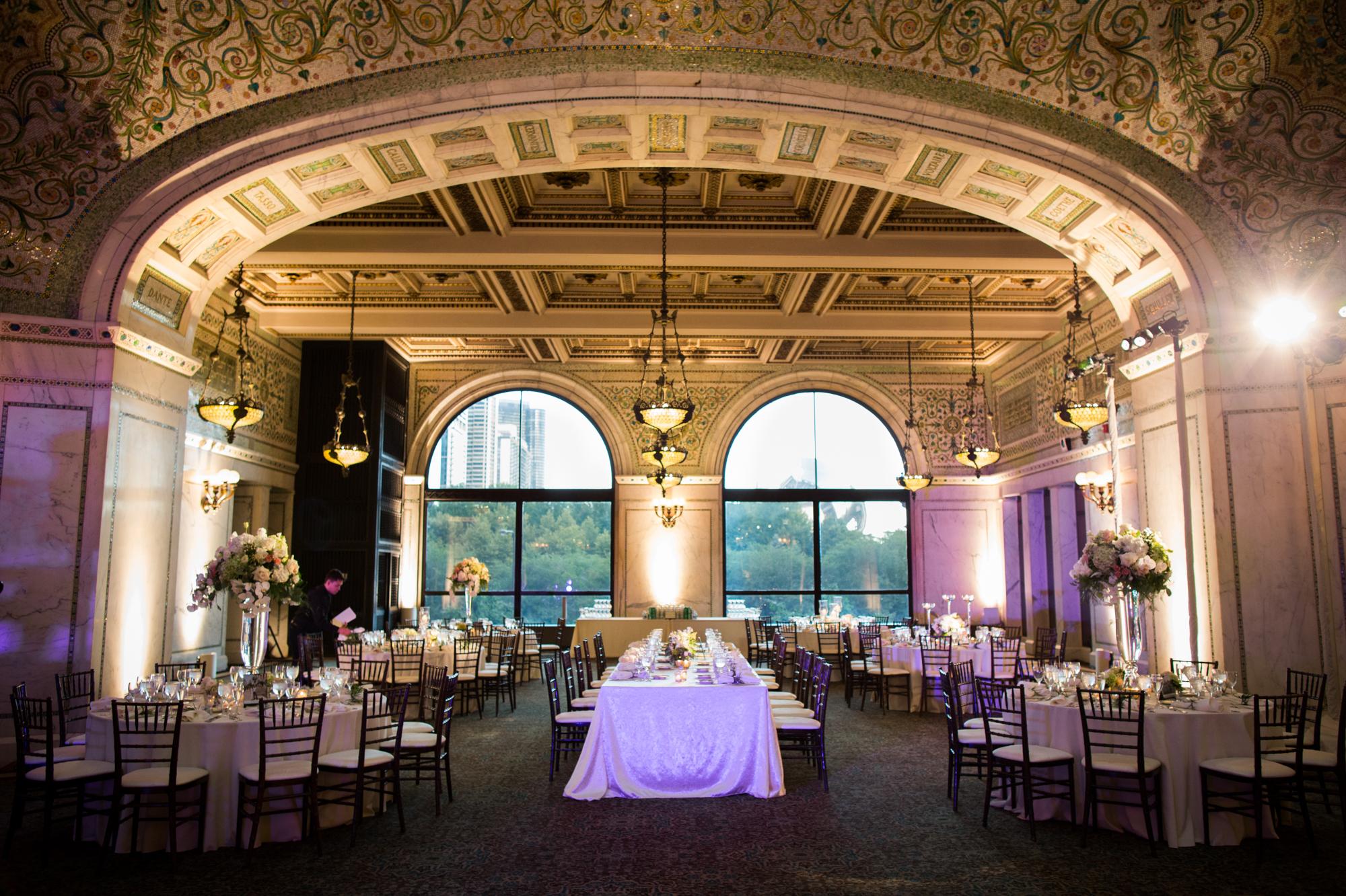 Classic Chicago Cultural Center wedding reception