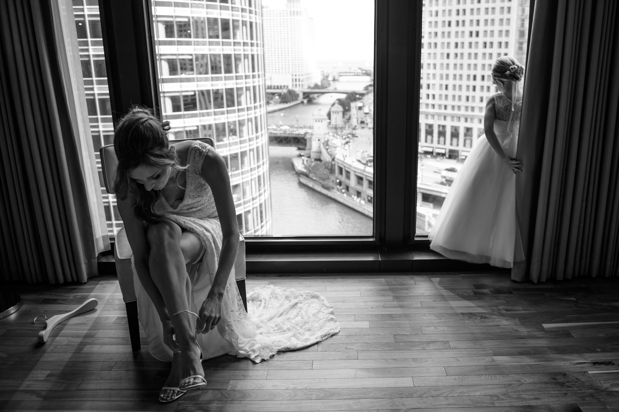 Fine art wedding photography in Chicago at the Langham Hotel