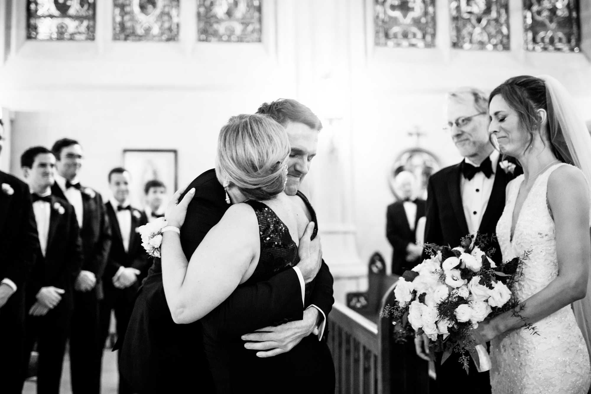 Documentary wedding photography in Chicago - St James Chapel Wedding Ceremony