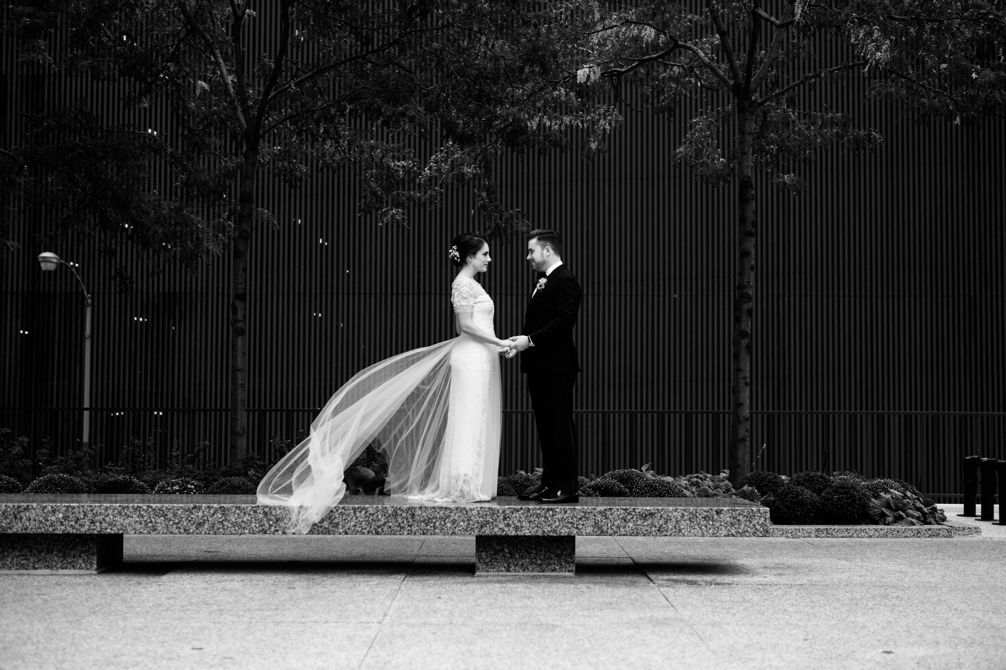 Fine art wedding photography in downtown Chicago