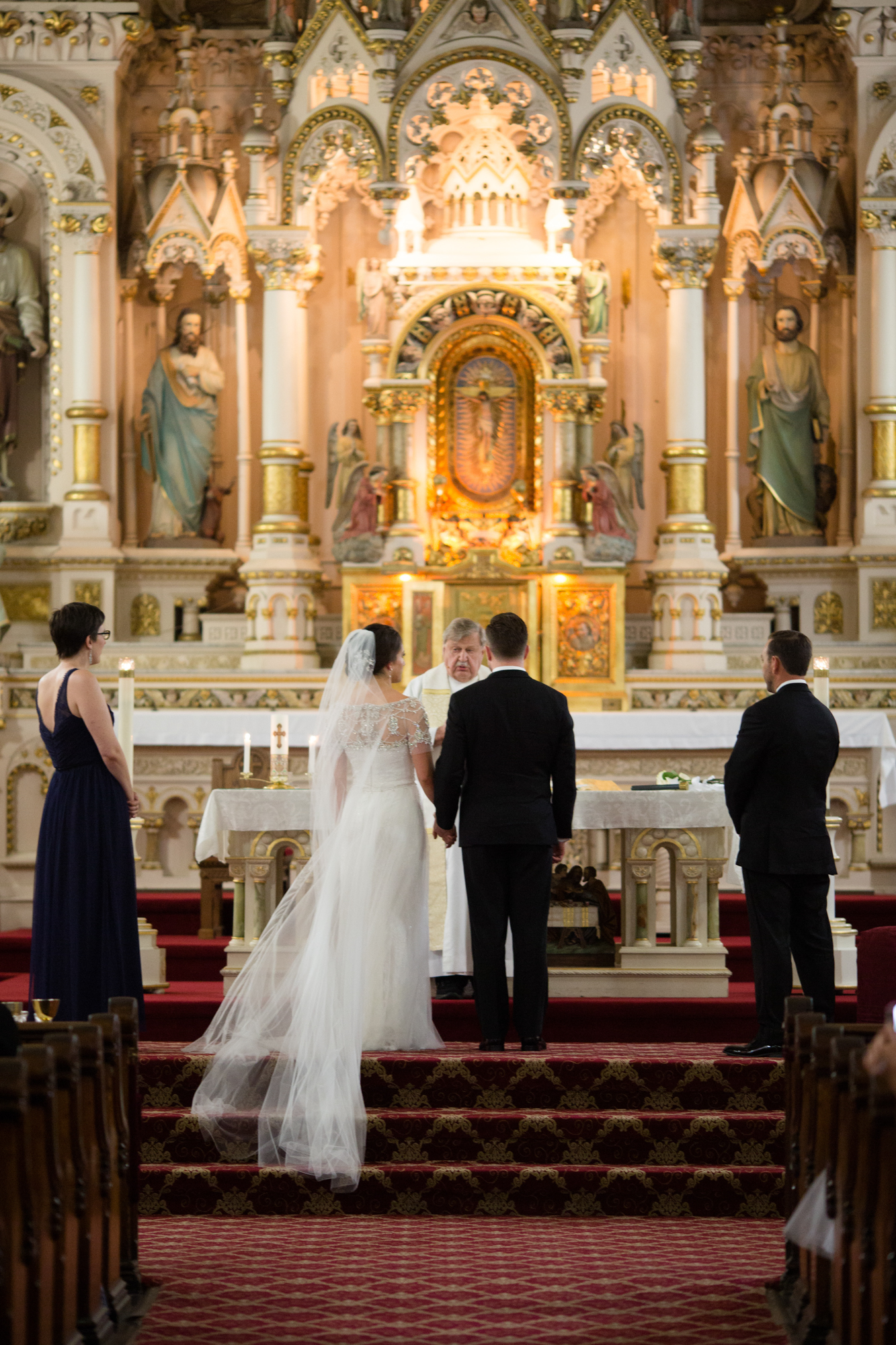 Wedding ceremony at St Michael's in Old Town, Chicago