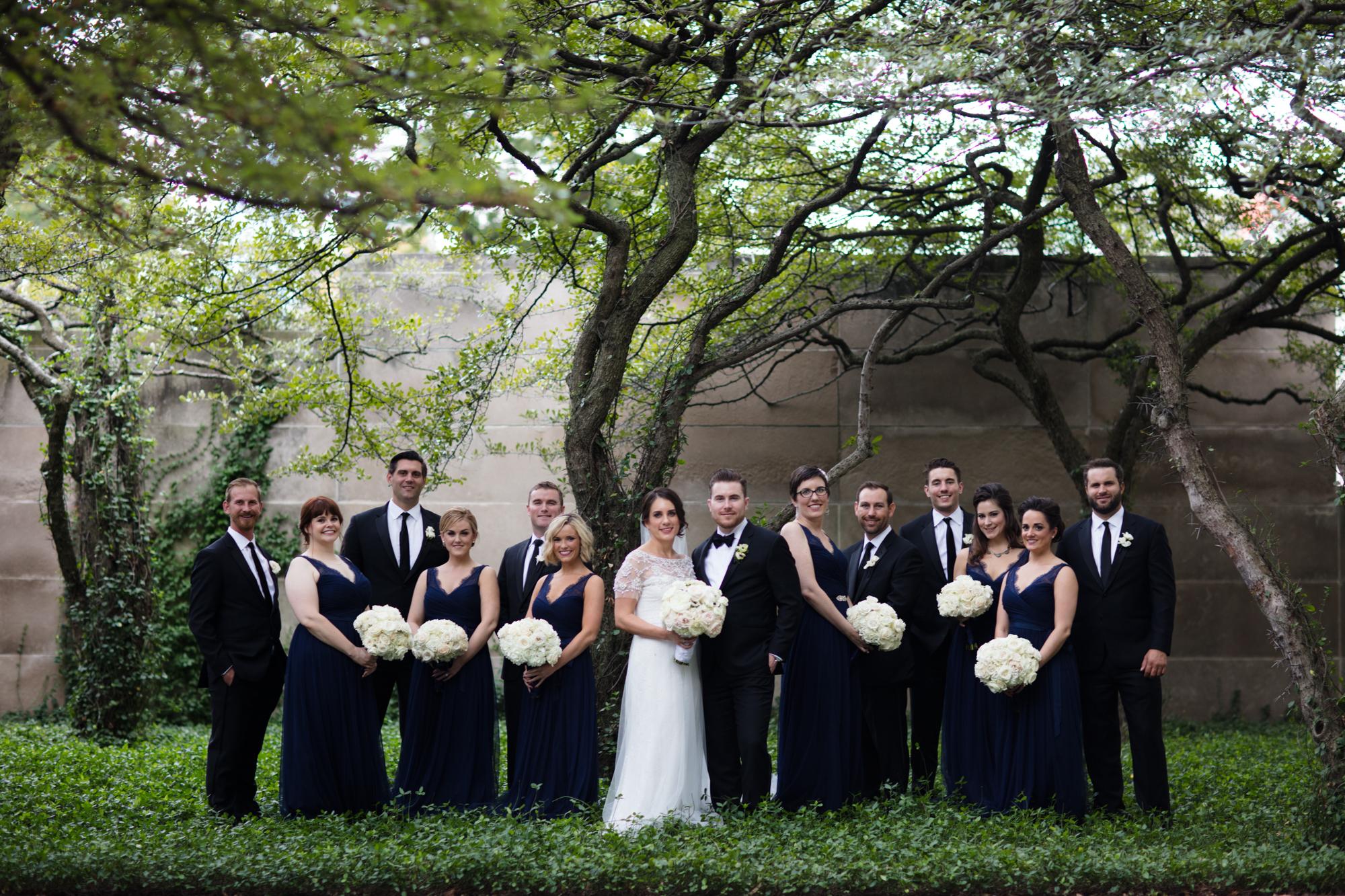 Fashion bridal party portrait in Chicago