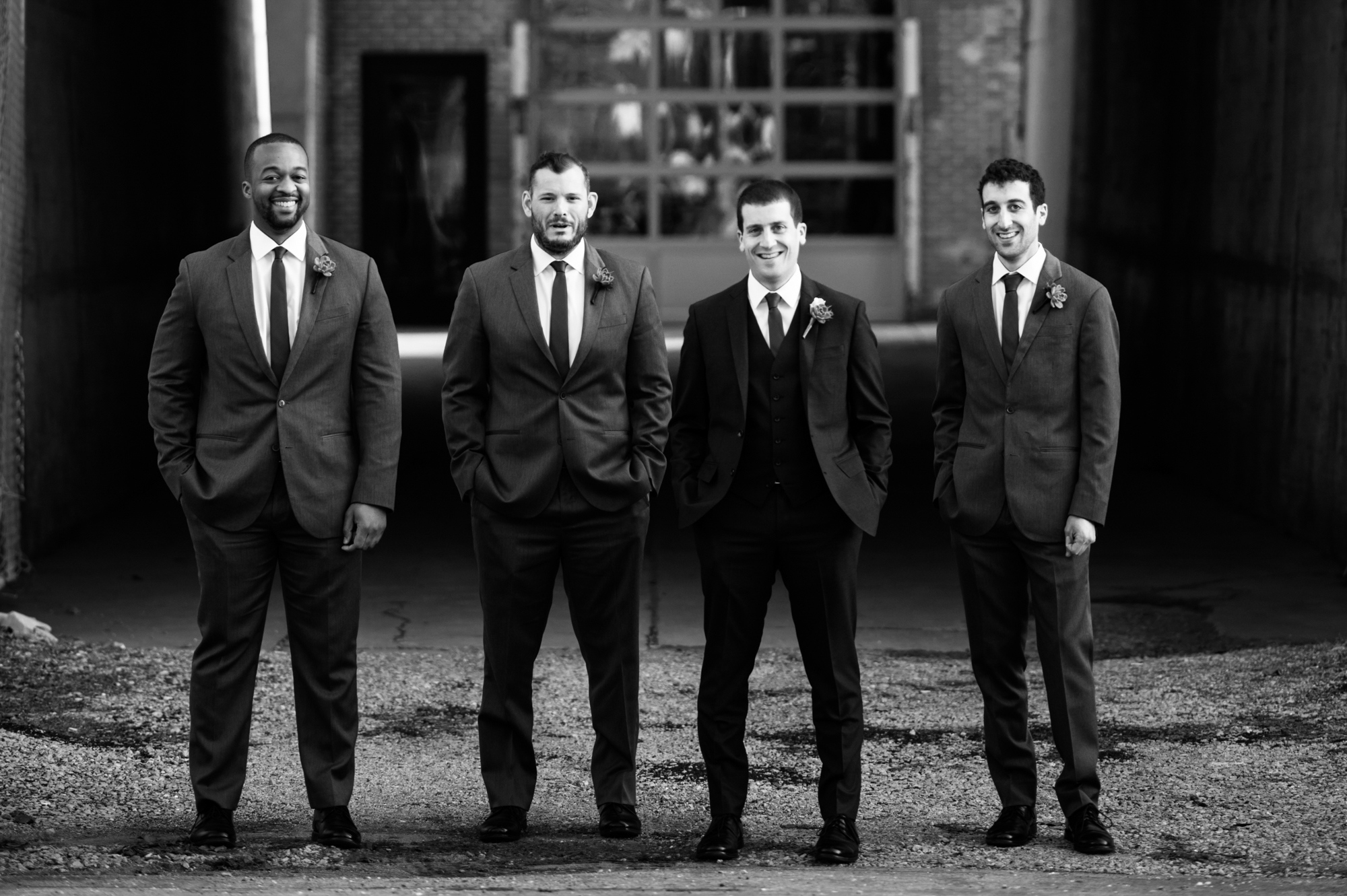 Groomsmen at Morgan Manufacturing wedding