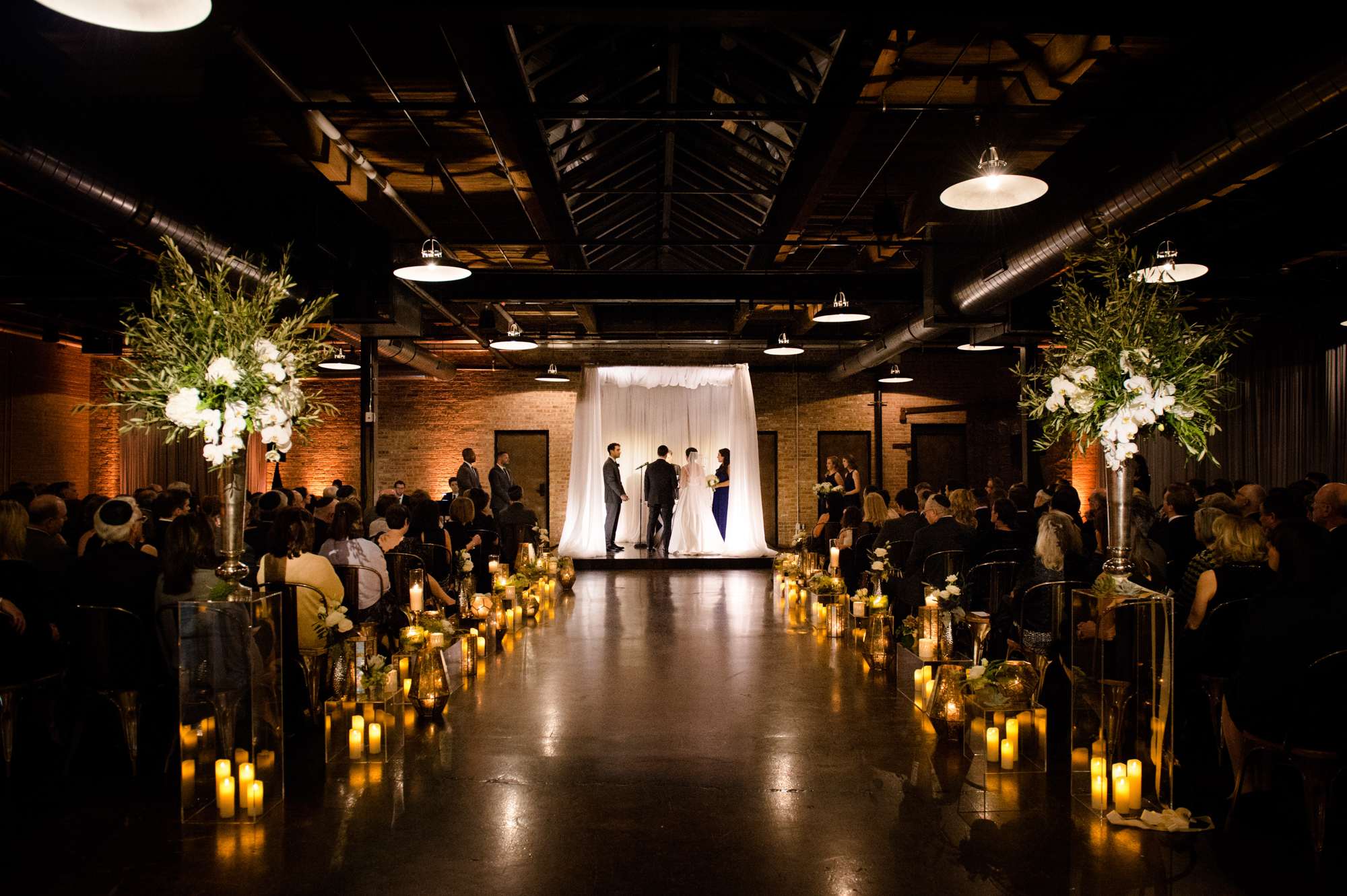 Wedding ceremony at Morgan Manufacturing in Chicago