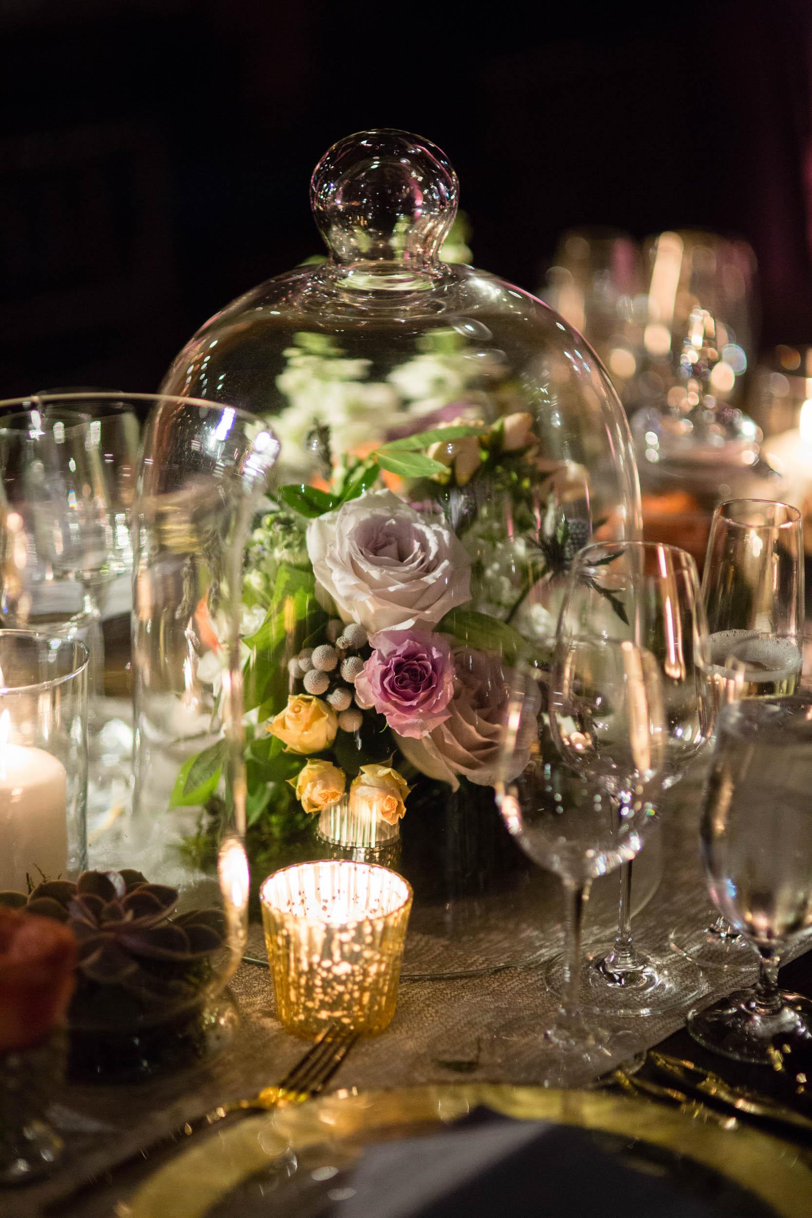 Wedding florals at Morgan Manufacturing