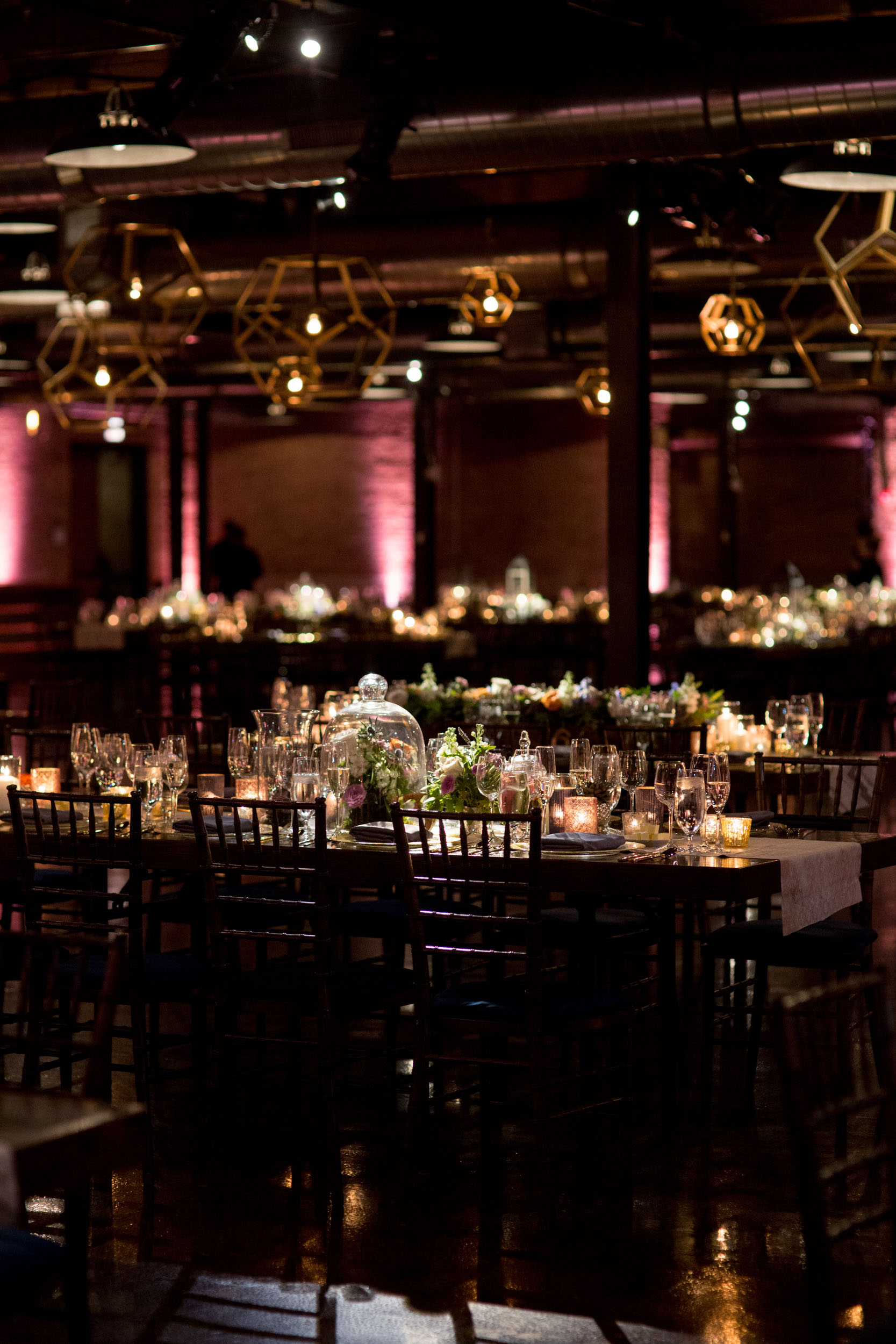 Artistic urban wedding reception at Morgan Manufacturing, Chicago