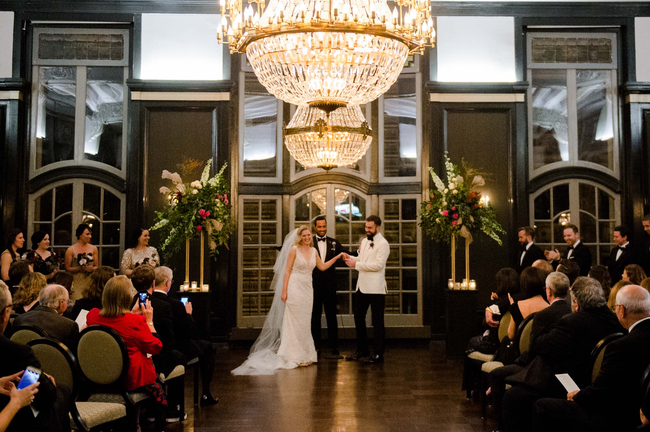 Wedding ceremony at Chicago Athletic Association