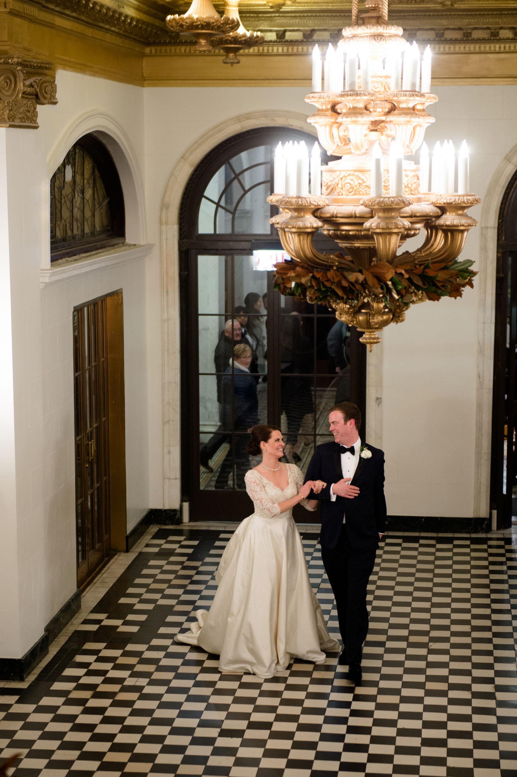 Indoor wedding portraits in Chicago