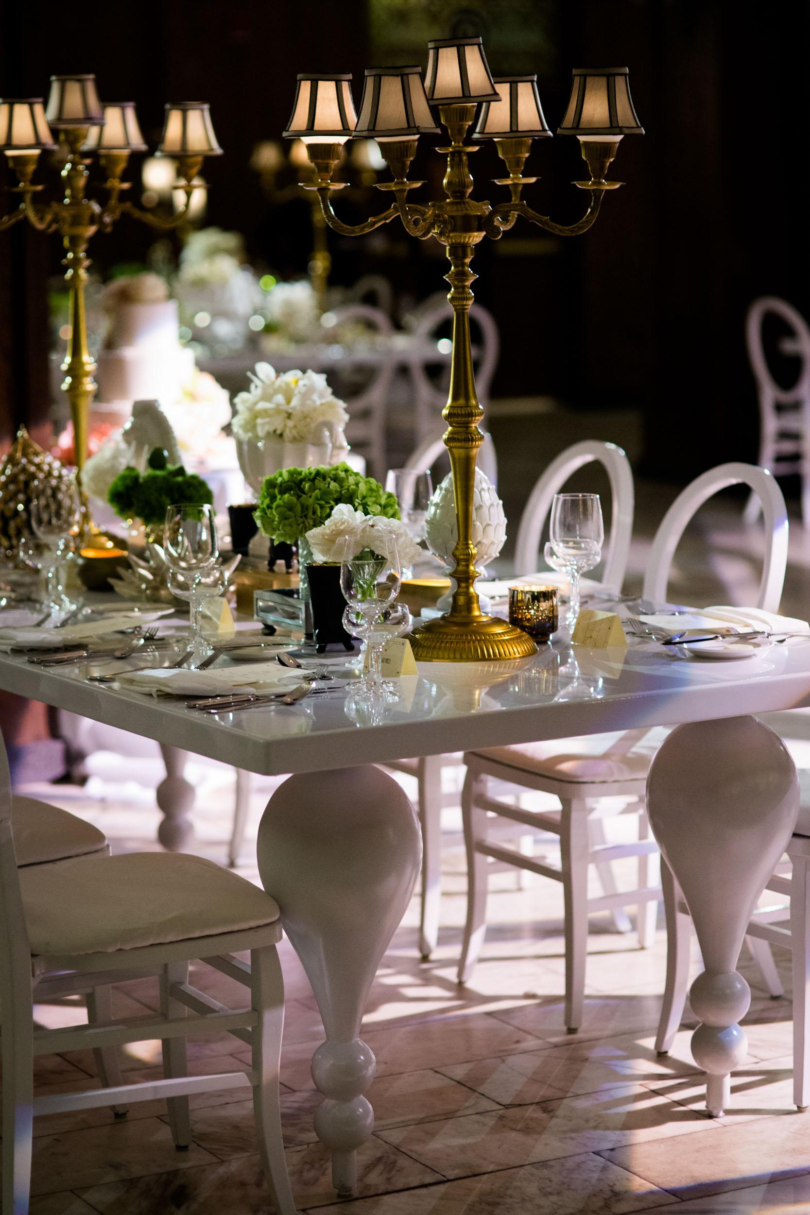Southern elegant wedding reception at Chicago Athletic Association - White City Ballroom
