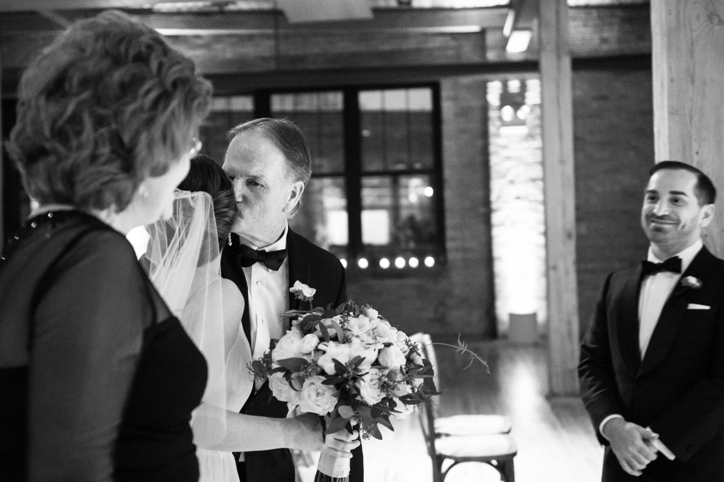 Wedding ceremony at Bridgeport Art Center
