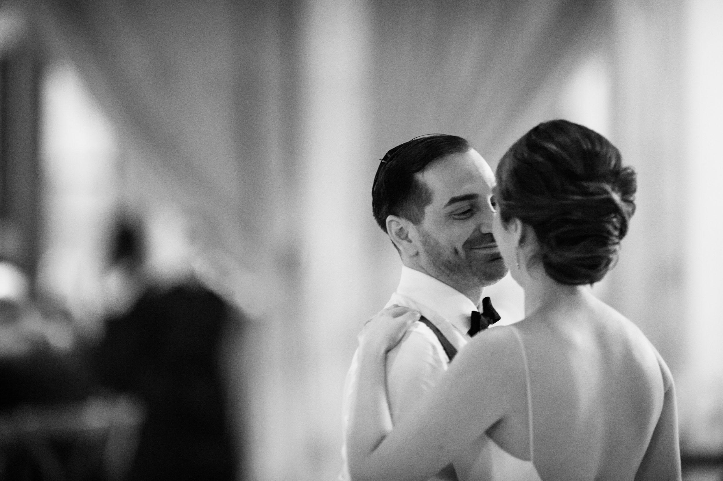 Bride and groom's first dance at Bridgeport Art Center Wedding