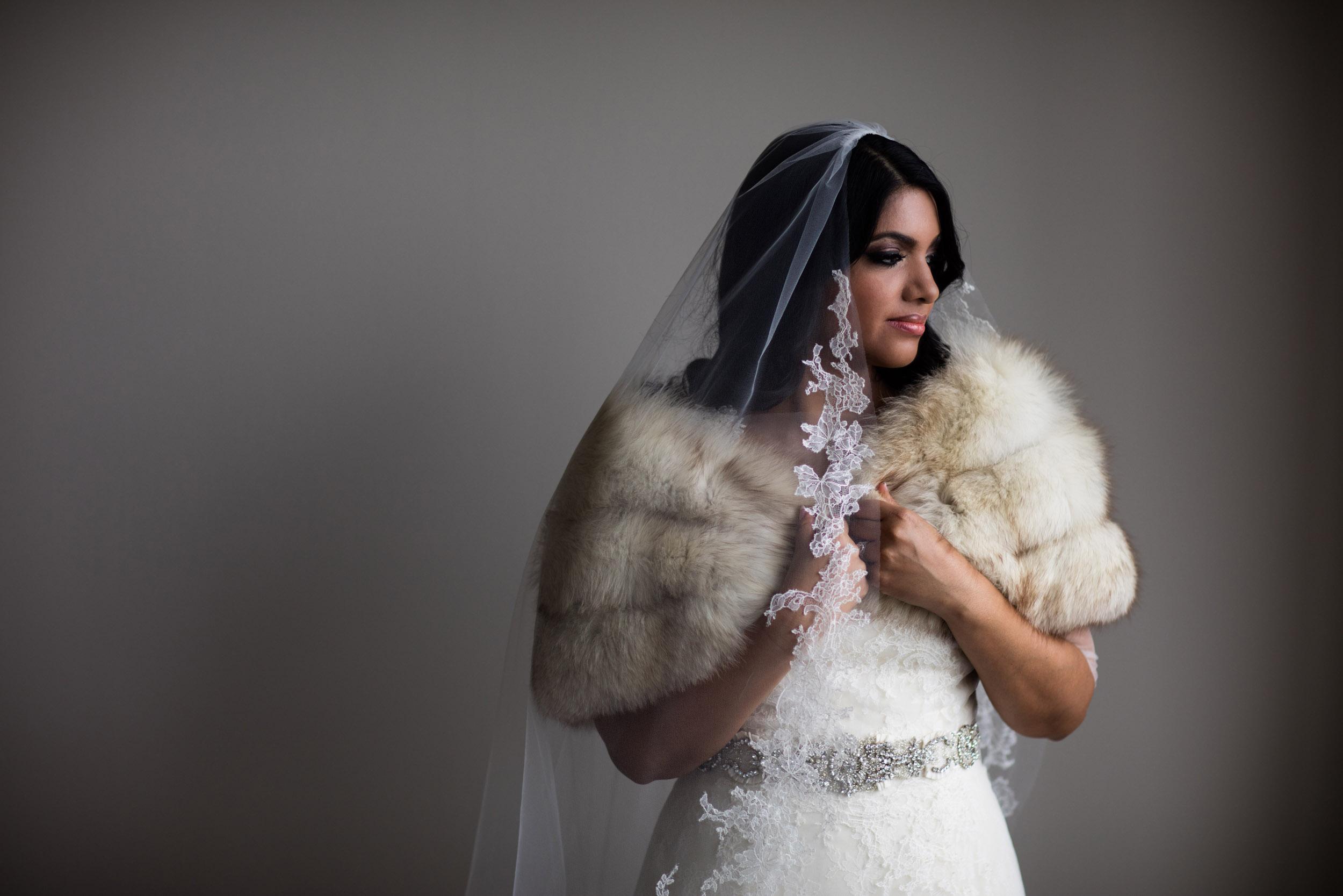 Bridal portrait at Ritz Carlton Chicago