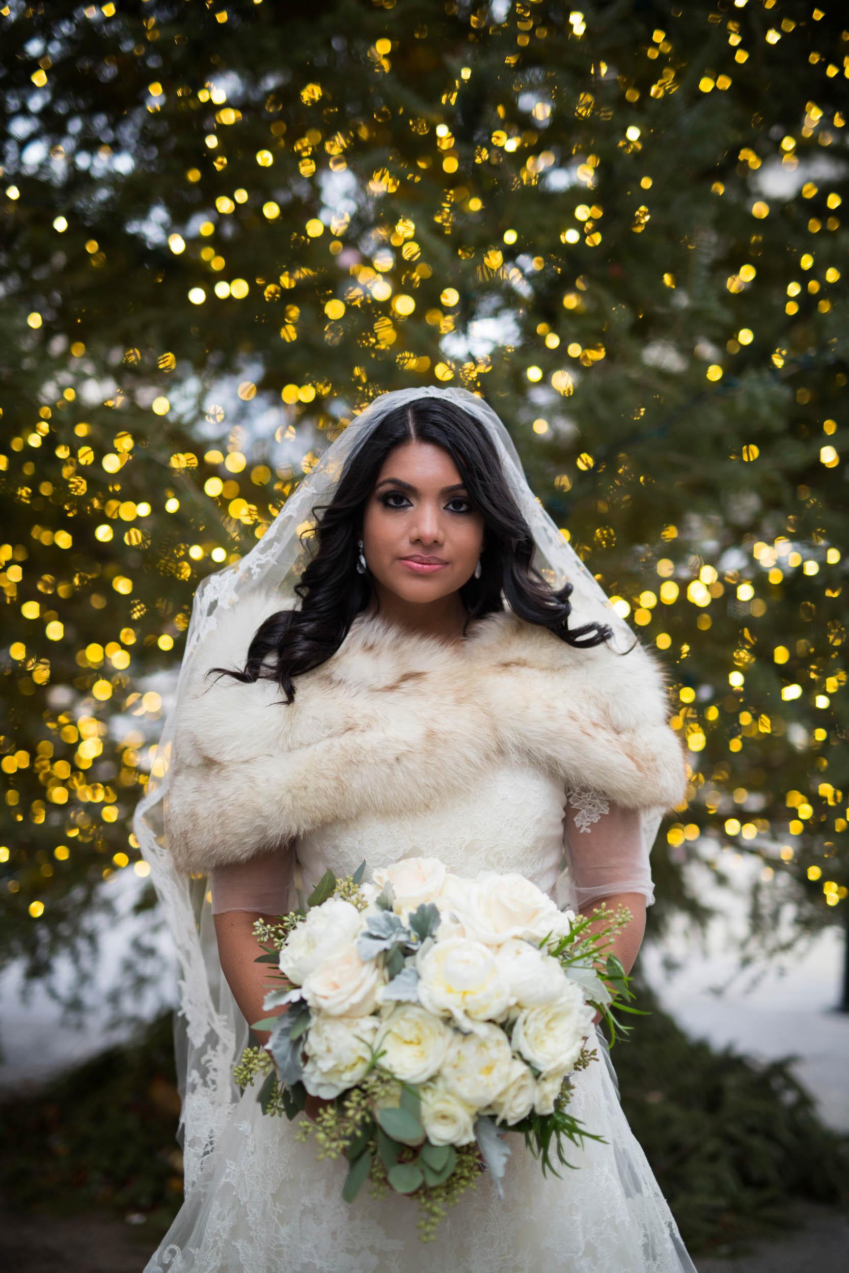 Winter bride in Chicago