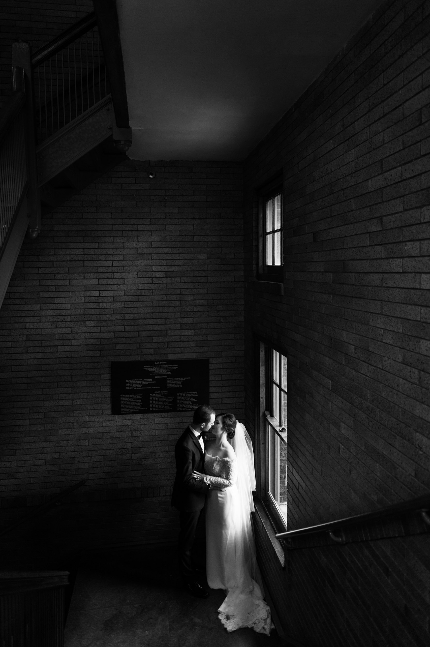 Wedding photography at Cafe Brauer Chicago