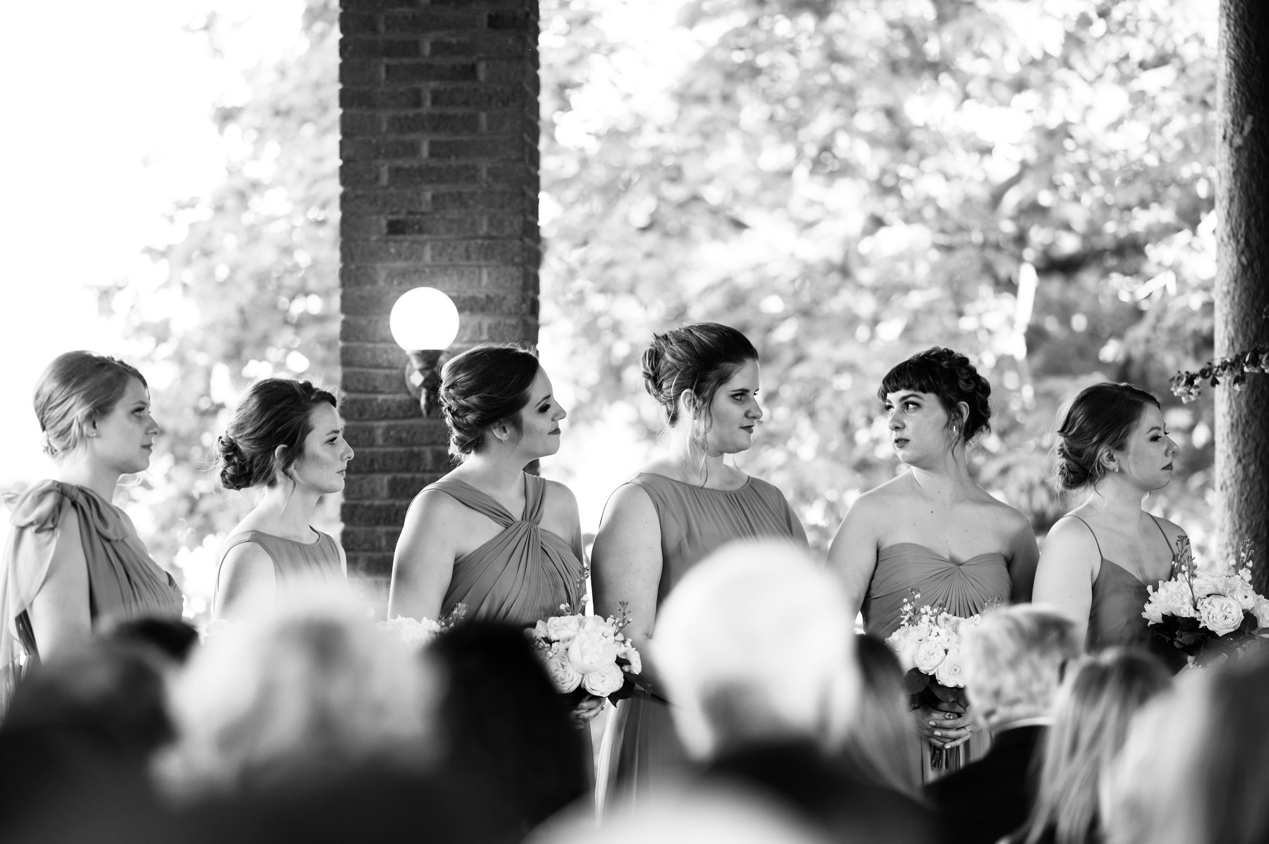 Bridesmaids at Cafe Brauer Chicago wedding photography