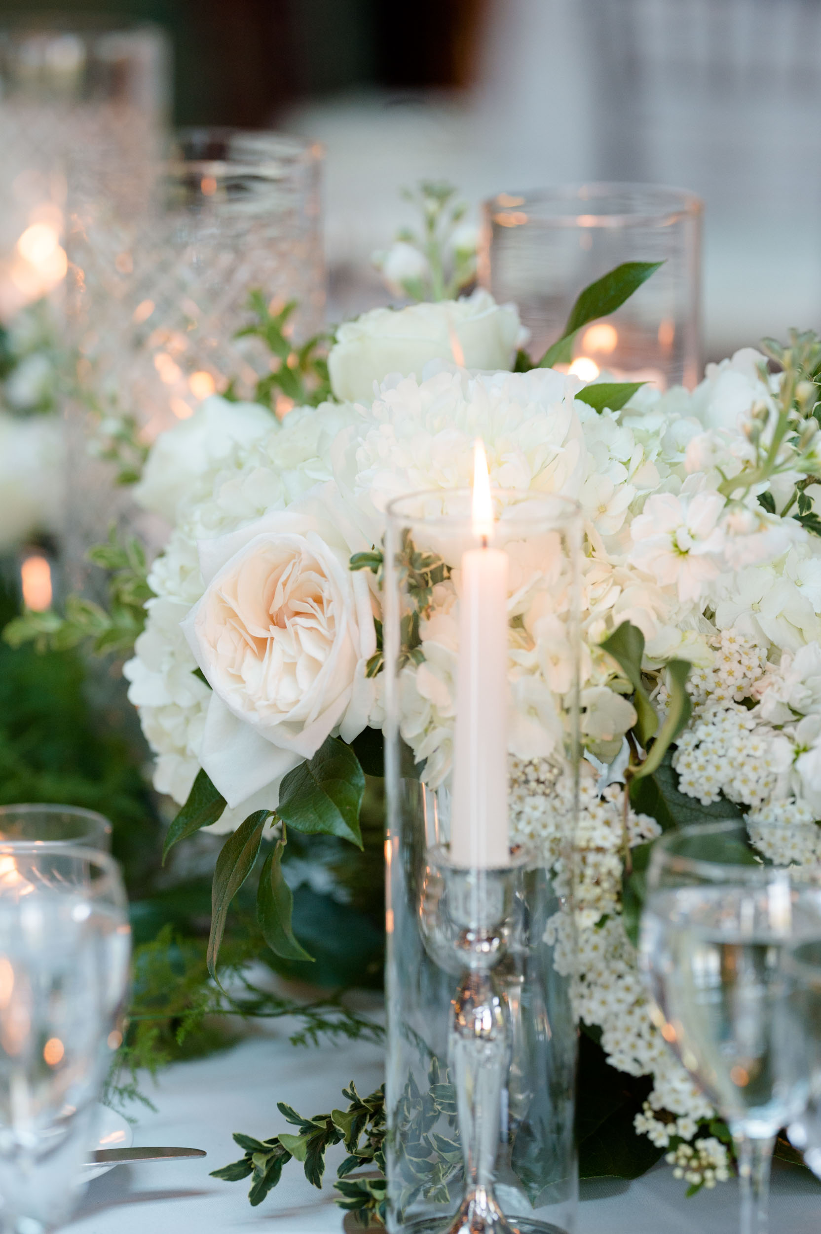 Spring wedding decor at Cafe Brauer by Stems Chicago