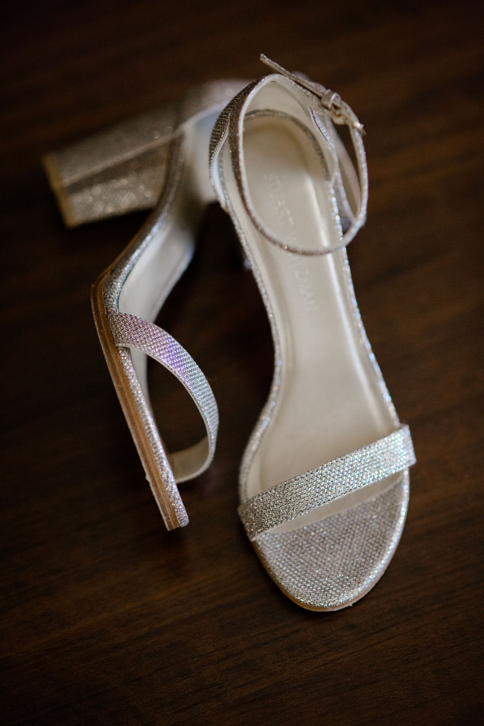 Bride's shoes at the Westin River North Chicago for Ivy Room Chicago
