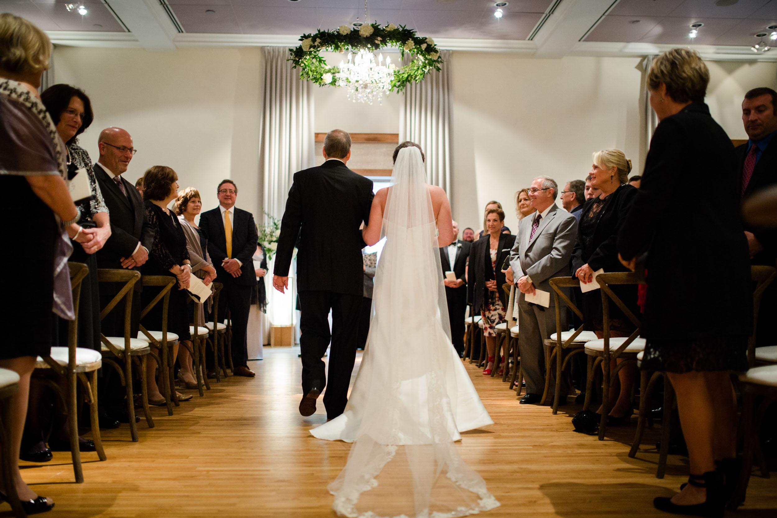 Wedding ceremony at Ivy Room Chicago.