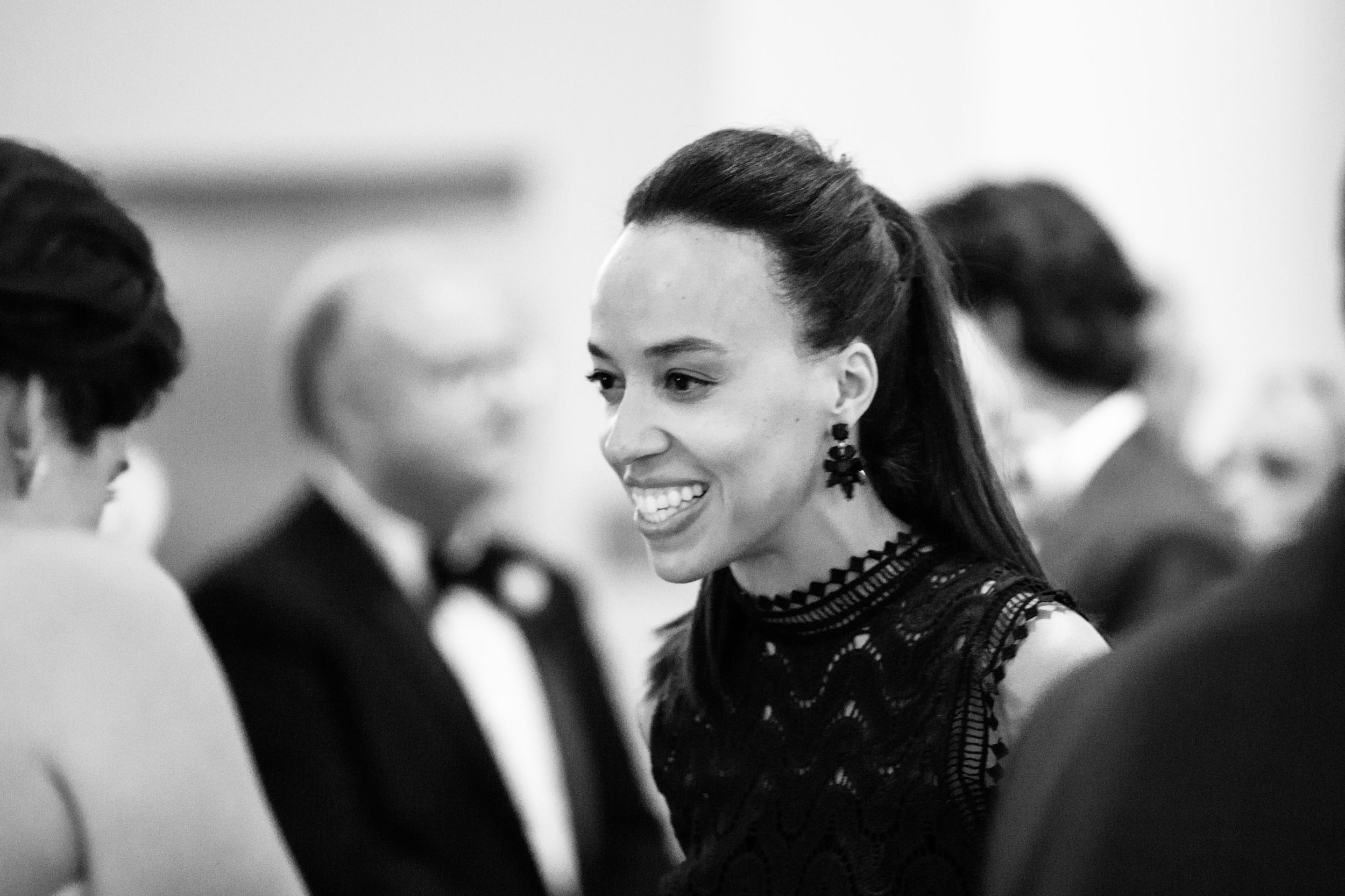 Candid black and white imagery for weddings in Chicago