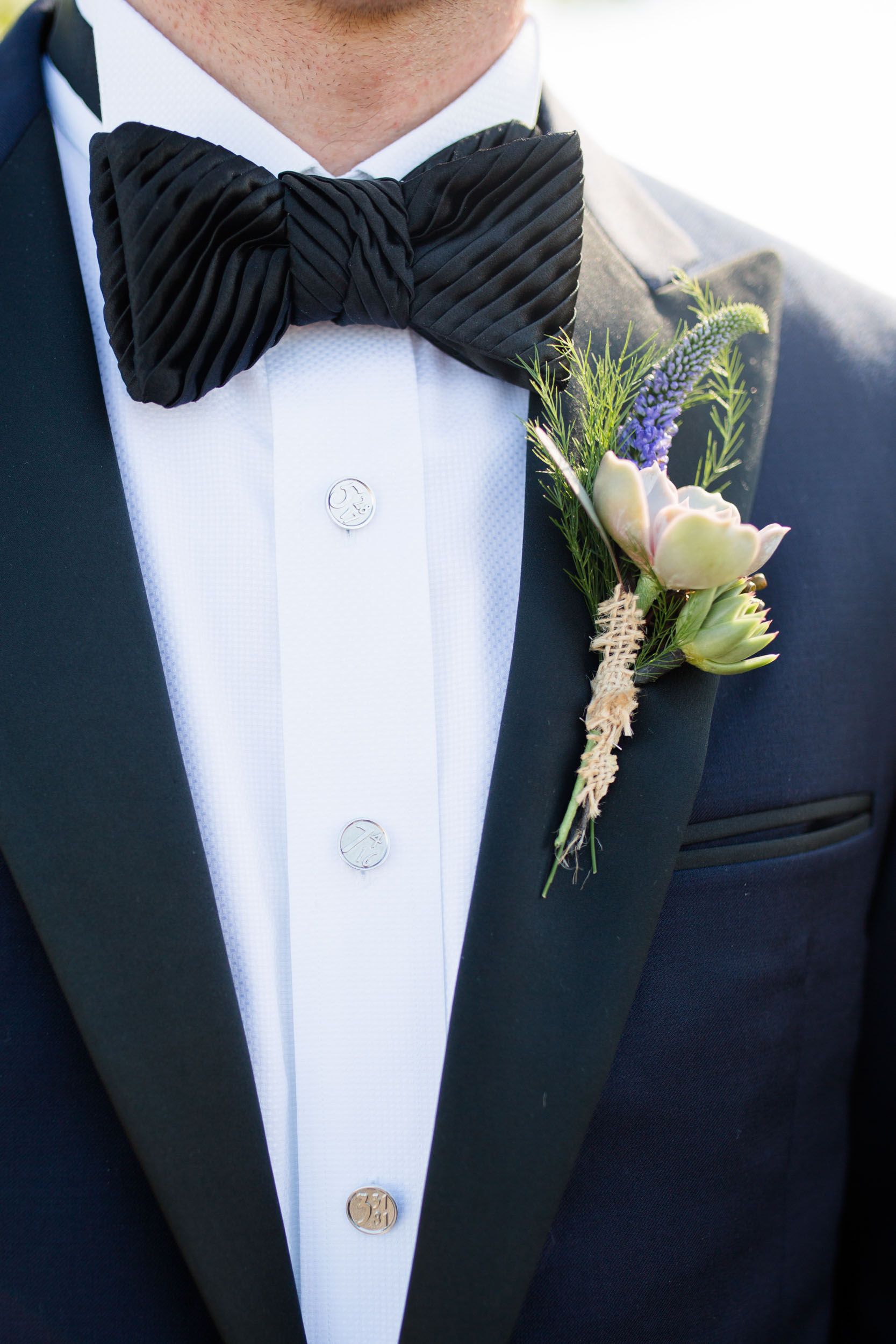 Wildflower groom's boutonniere Northerly Island Chicago