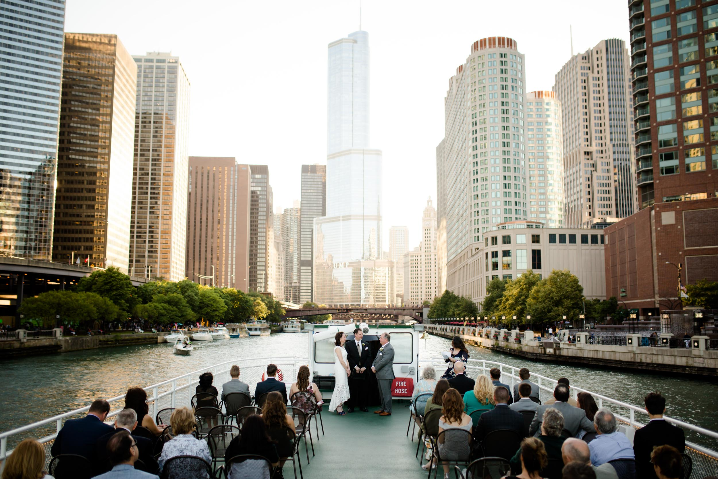 Boat wedding on the Chicago River