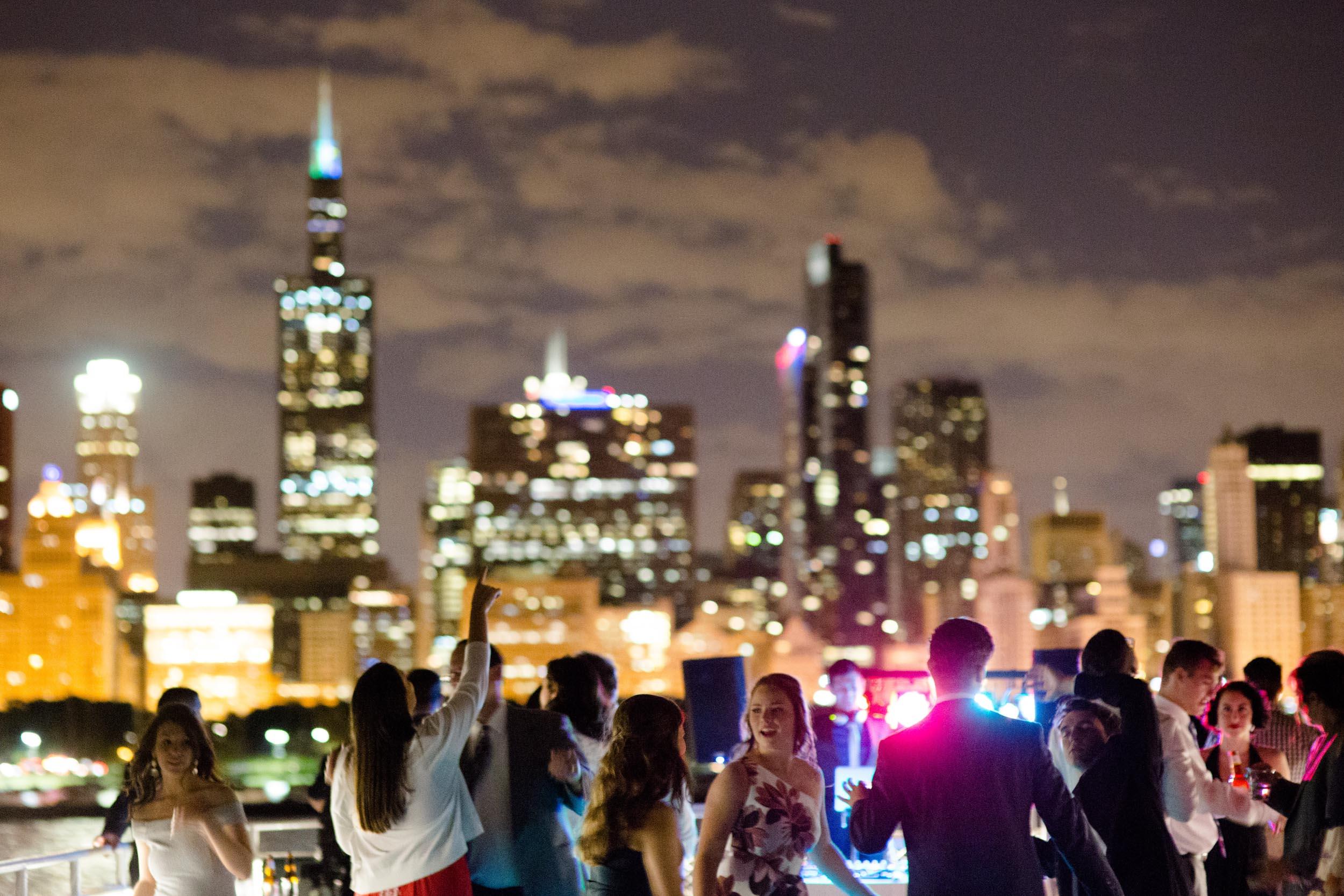 Wedding on Chicago's Fair Lady boat