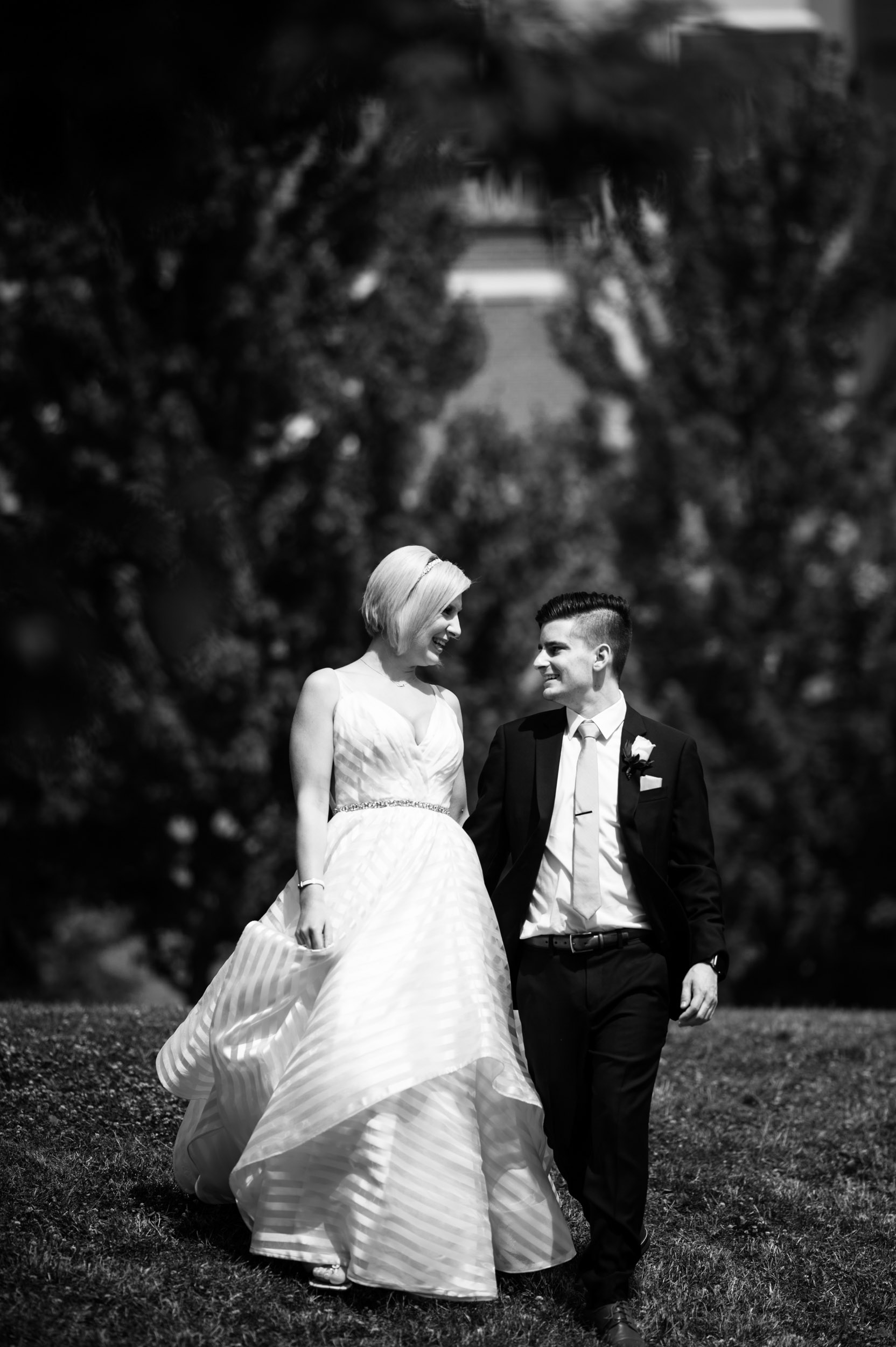 Wedding photos at Mary Bartleme Park