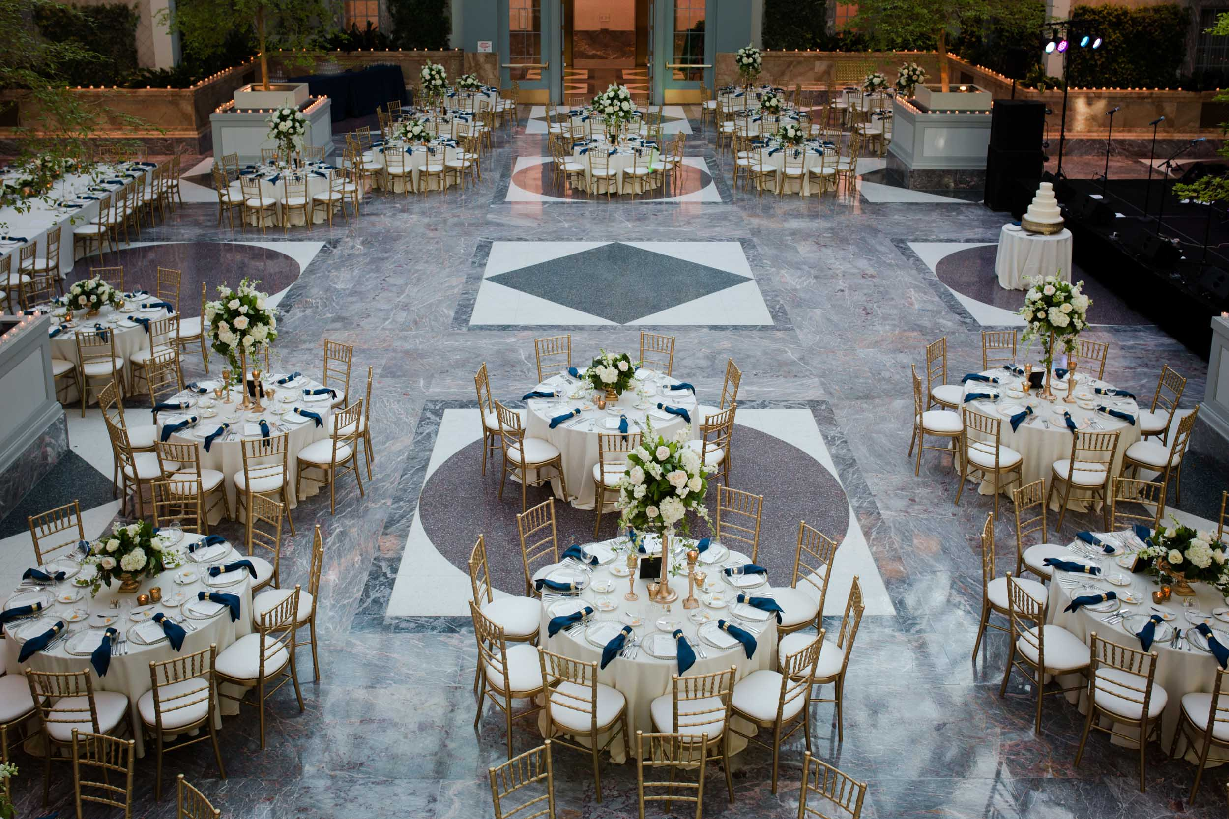 Harold washington library wedding decor