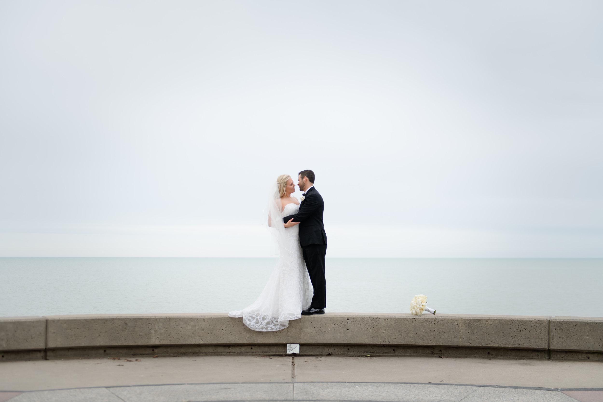Elegant bridal portrait at Lyric Opera Chicago