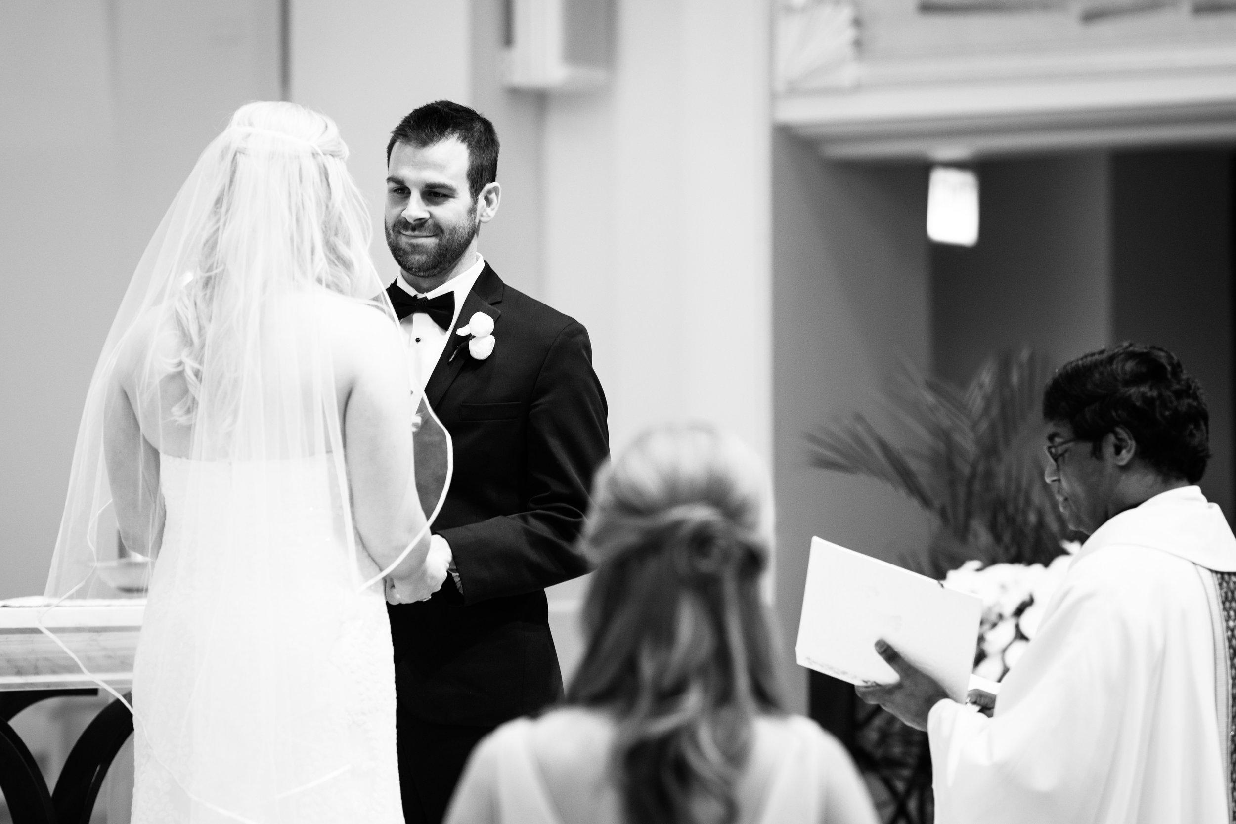 Bride at Cafe Brauer Chicago wedding ceremony