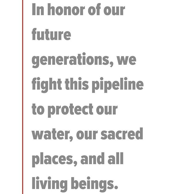 #standwithstandingrock #waterislife #nodapl please help protect our sacred earth and water by visiting the www.standwithstandingrock.net to donate, sign petition, and call the whitehouse.