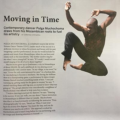Pulga Muchochoma in The Dance Current, Mar/April 2017