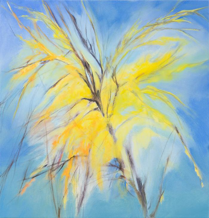 Troubles Melt Like Lemon Drops , 2016, Oil on canvas, 27 x 26 inches