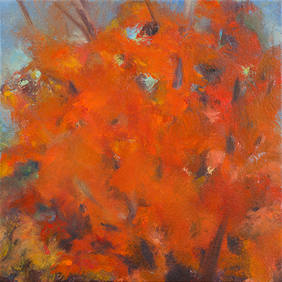 Focoso , 2015, Oil on canvas, 9 x 9 inches