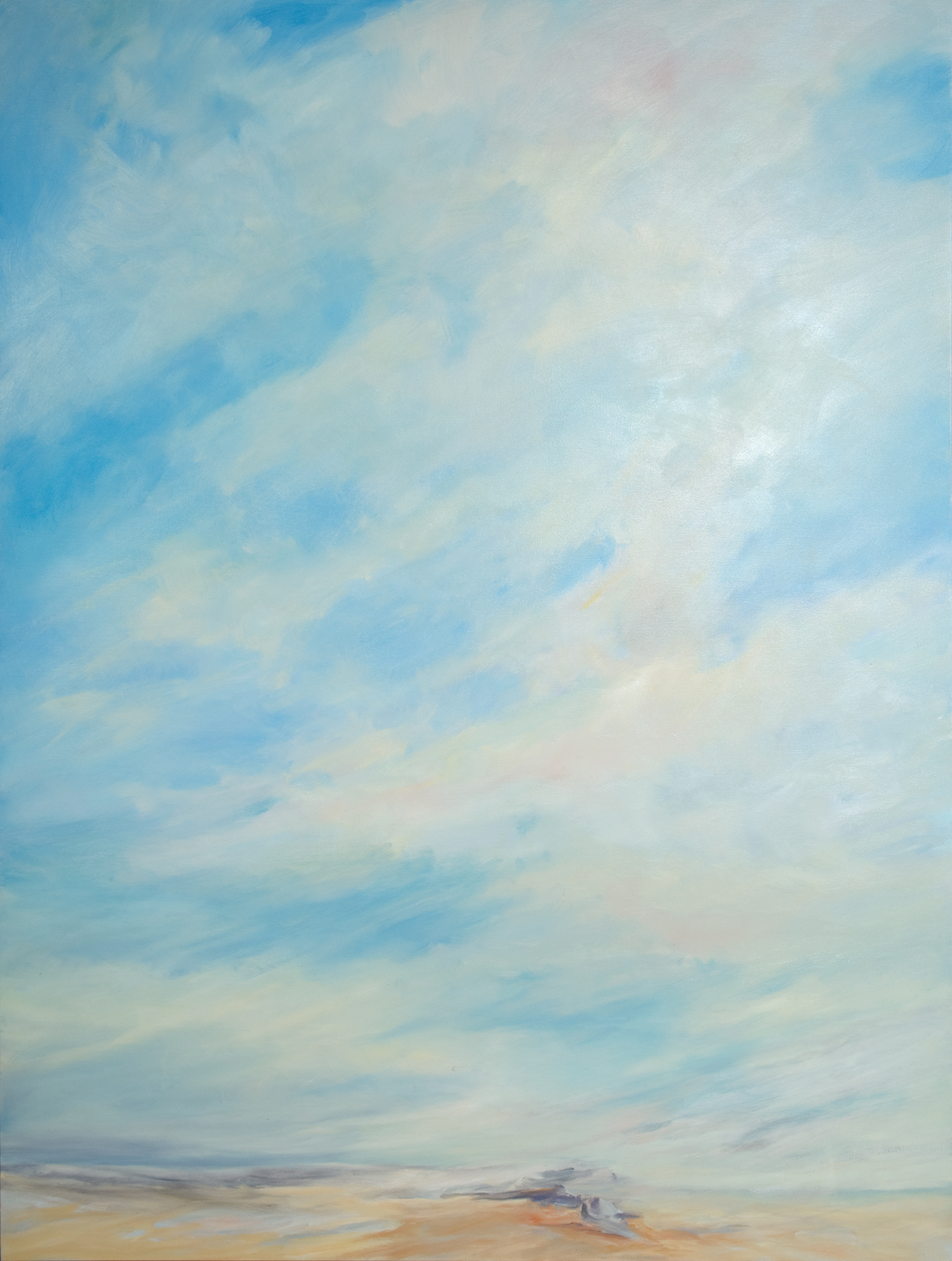 Winter Afternoon Sky,  2009, Oil on Canvas, 72 x 54 inches (Private Collection, Fredericton, NB)