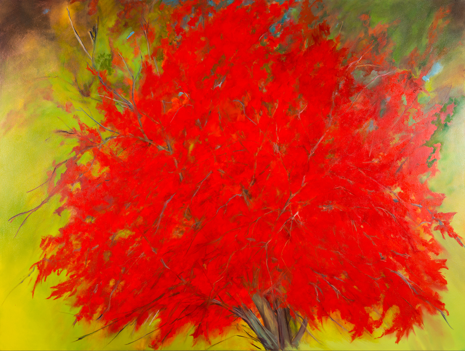 Albero Rosso , 2014, Oil on canvas, 72 x 96 inches (Private Collection-Fredericton, NB)