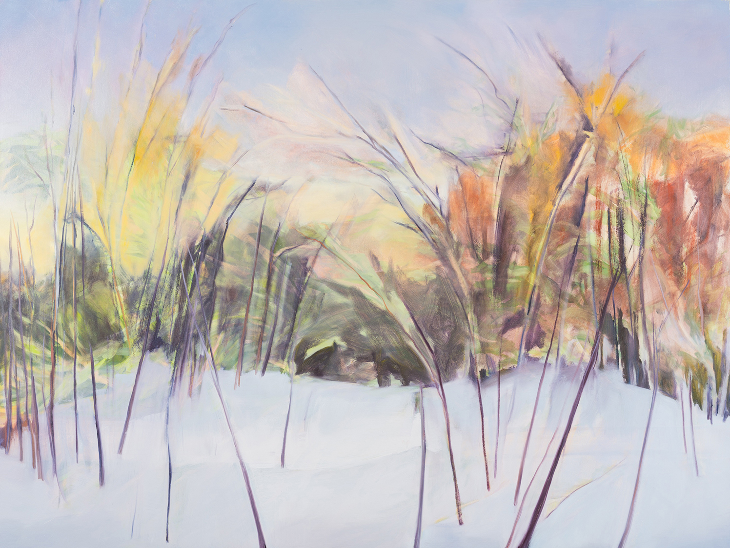 Early Winter Redoux , 2013, Oil on canvas, 54 x 72 inches