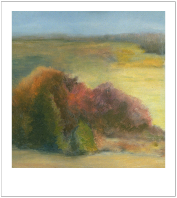 October , 1993, Oil on canvas, 24 x 24 inches, (Private Collection-Fredericton, NB)