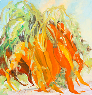 Nelsons & Rainbows , 2014, Oil on canvas, 14 x 13 inches (Private Collection)