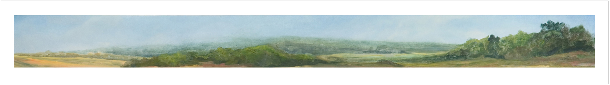 Keswick Summer,  1994, Oil on Canvas, 14 x 96 inches (Private Collection)
