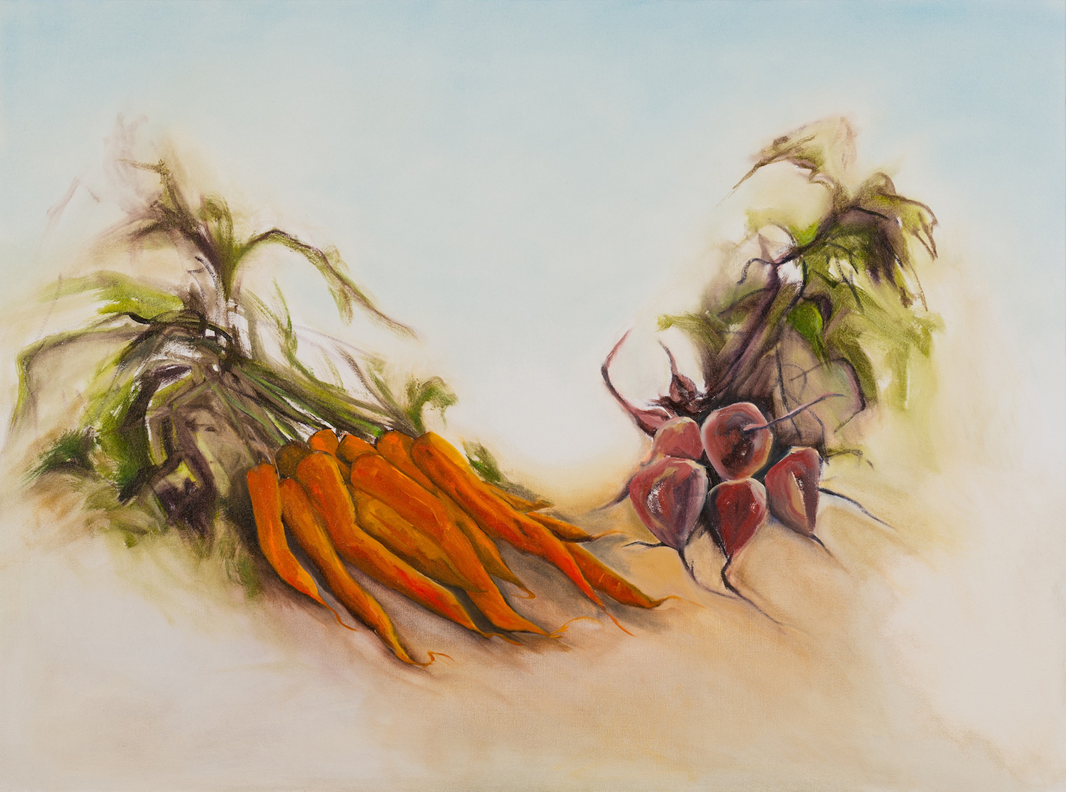Un-Earthed , 2013, Oil on Canvas, 36 x 48 inches