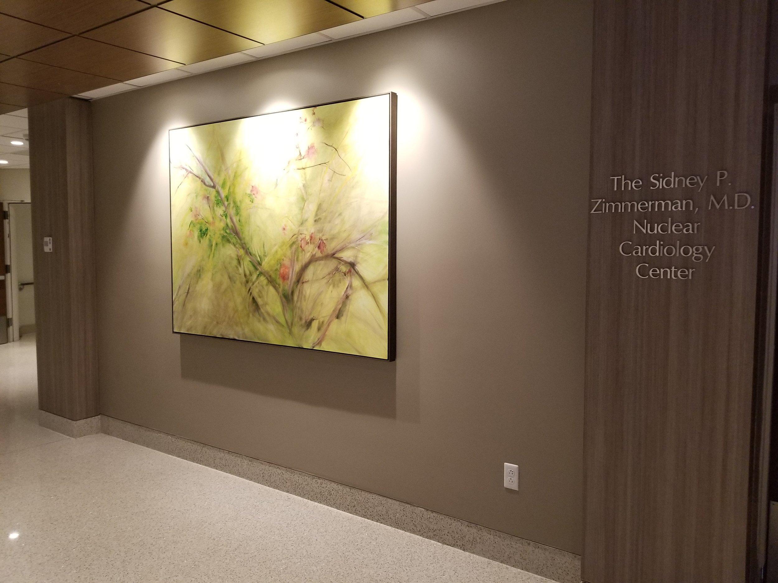 Charlotte's Roses,  54 x 72 inches, Oil on canvas,White Plains Hospital, White Plains, NY