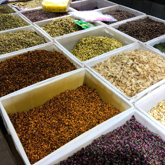 Chinese herb market