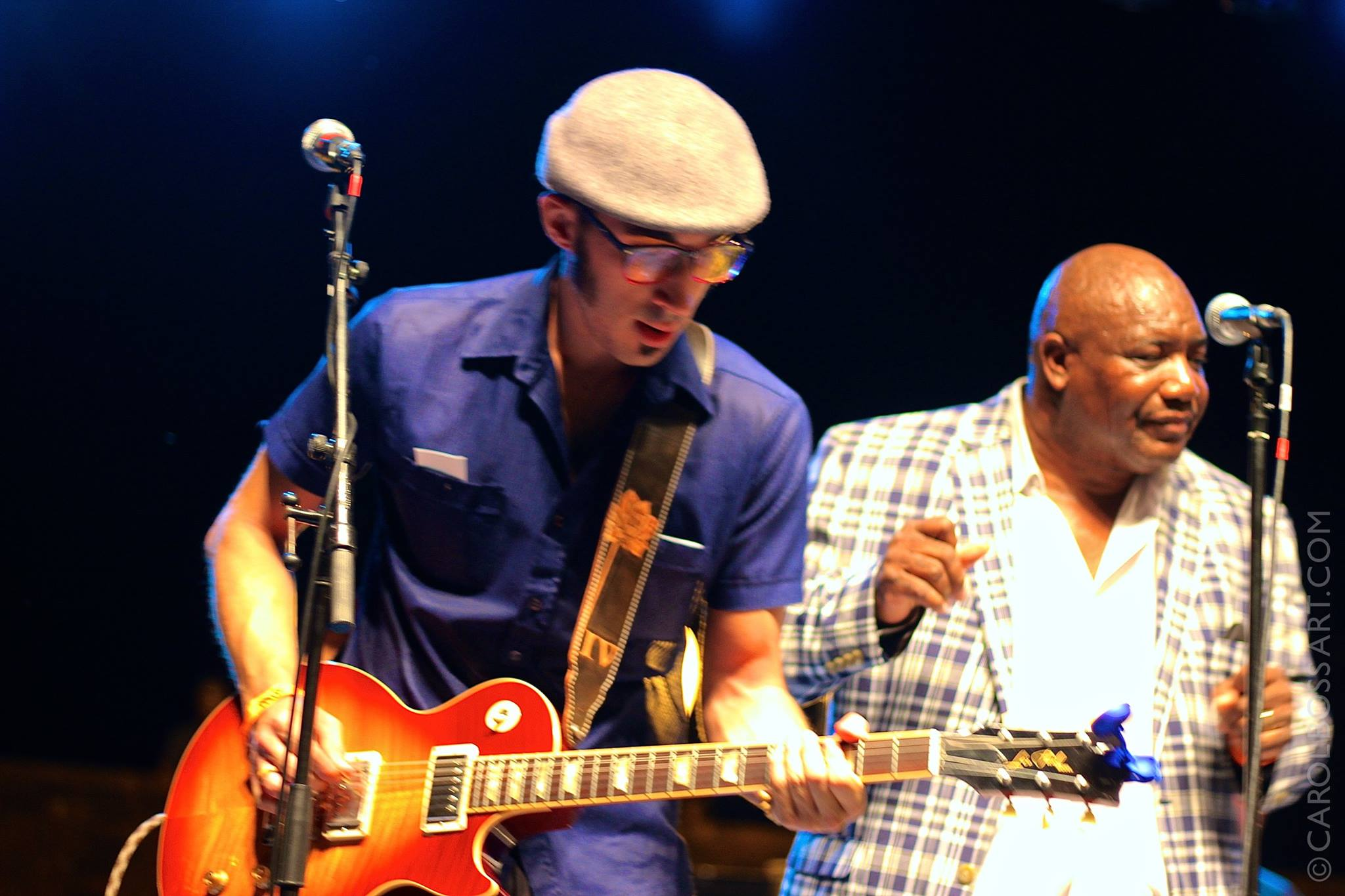 Paul and Gene Jackson at the Big Muddy Blues Festival
